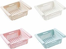 4Pcs Household Fridge Organizer Drawer Storage