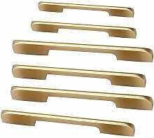 4pcs Kitchen Cabinet Pulls Brushed Brass Gold