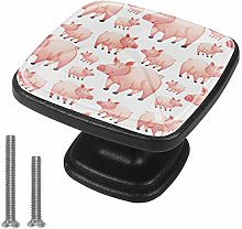 4pcs Knobs Black Drawer Knobs for Kitchen,