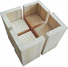 4Pcs L-shape Semi-closed Lift Wood,Table Riser,Bed