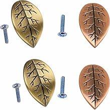 4pcs Leaf Shaped Cabinet Door Drawer Bin Handle