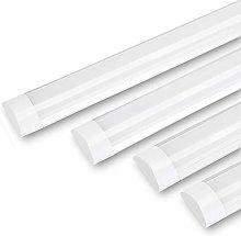 4PCS LED Batten Ceiling Light Integrated Tube Lamp