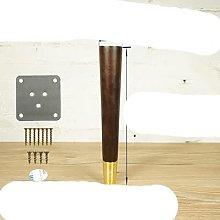4pcs/lot Oak Wood Reliable Furniture Leg with Iron