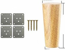 4pcs/lot Solid Wood Furniture Legs, Inclined Cone