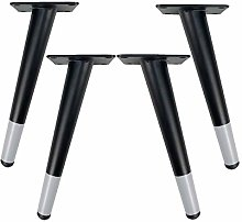 4pcs Metal Furniture Legs,Oblique Table Legs,Round