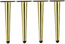 4pcs Metal Furniture Support Legs,Tapered Sofa