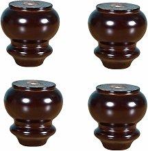 4pcs Natural Wooden Sofa Legs,Modern Gourd Type