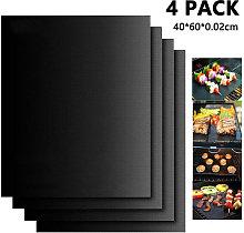 4Pcs Non Stick BBQ Grill Mat Set Extra Large