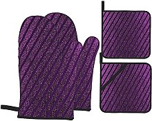 4Pcs Oven Mitts and Pot Holders Sets,Luxury