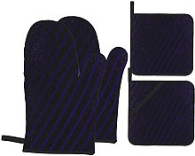 4Pcs Oven Mitts and Pot Holders Sets,Luxury Violet