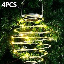 4PCS Pineapple Solar Lights Outdoor Waterproof