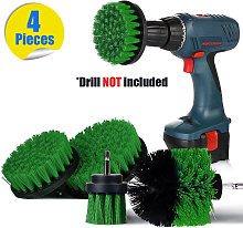 4Pcs Power Washer Drill Brush Kit (Not Included