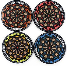 4pcs Retro Dart Board Styled Cup Placemat,Darts