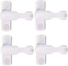 4PCS Sash Home Security Locks for PVC Windows &