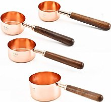 4Pcs/Set Rose Gold Stainless Steel Measuring Cups