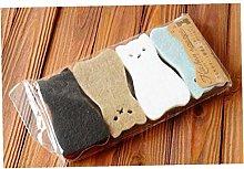4pcs/set Sponge Scouring Pads Cute Cat Shape Dish