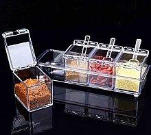 4pcs/Set Sugar Storage Dispenser Chic Clear