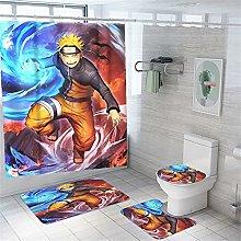 4PCS Shower Curtain Set for Bathroom - Waterproof