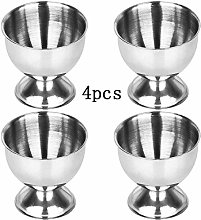 4PCS Silver Egg Tray Egg Cup Stainless Steel Soft