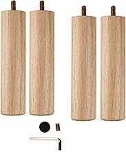 4pcs Sofa Legs Wooden Furniture Legs,Cylindrical