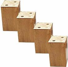 4Pcs Sofa Legs,Wooden Square Furniture