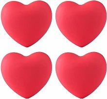 4pcs Soft Rubber Cartoon Heart Shape Cabinet