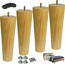 4pcs Solid Wood Furniture Leg,Wooden Tapered