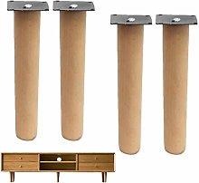 4pcs Solid Wood Furniture Legs,Beech Sofa