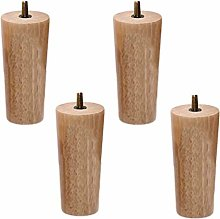 4PCS Solid Wood Furniture Legs,Rubber Wood Sofa