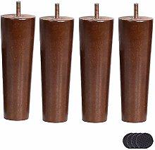 4pcs Solid Wood Furniture Legs,Sofa Legs,Solid