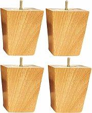 4pcs Solid Wood Furniture Legs,Wooden Square Sofa