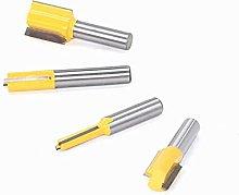 4PCS Straight milling Cutter, Shank Tool