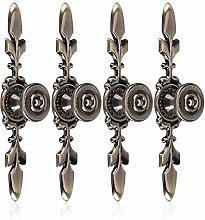 4Pcs Vintage Cabinet Knobs, Wardrobe Pulls Handle,