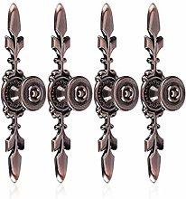 4Pcs Vintage Style Pull Handle Door Knobs, Cabinet