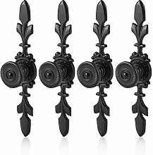 4PCS Vintage Style Wardrobe Handle, Retro Black