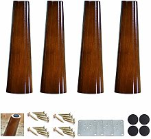 4Pcs Wood Table Legs,Straight Cone Furniture