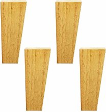 4PCS Wooden Furniture Legs,Rubber Wood Sofa
