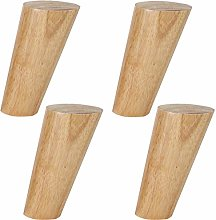 4Pcs Wooden Furniture Legs,Tapered Solid Wood Sofa