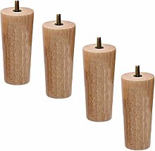 4Pcs Wooden Furniture Legs,Wood Sofa Feet,Solid