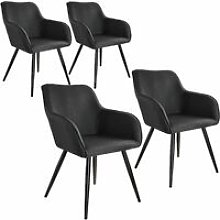 4x Accent Chair Marylin - black