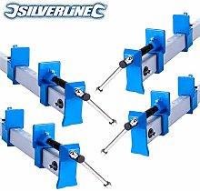 4X Aluminium Sash T Bar Clamps 2 Ft/600mm Long