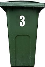 4X Bin Sticker Vinyl Number 1-99 Large Recycling