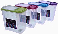 4X Dry Food Storage Container Set bin 2L for