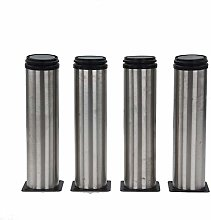 4X Furniture Legs Adjustable Stainless Steel