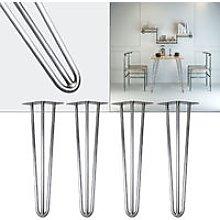 4x Hairpin Table Legs 60cm steel retro Vintage