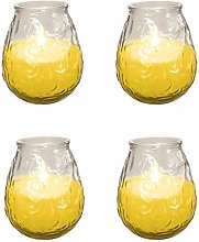 4X Prices Outdoor Citronella Candle In Glass Jar