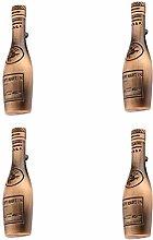 4X Vintage Red Bronze Wine Bottle Cabinet Wardrobe