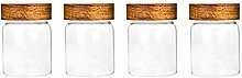 4X300ML Glass Airtight Storage Jar, Kitchen Food