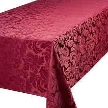 4YH Textiles Cadiz Damask Effect Berry Red 70in x