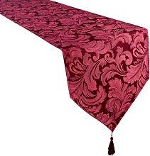 4YH Textiles Cadiz Damask Effect Berry Red